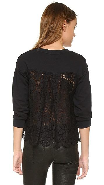 Markus Lupfer Lace Back Cece Sweatshirt