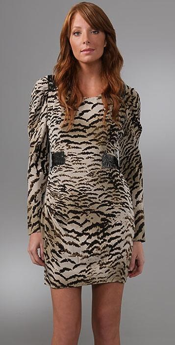 Madison Marcus Lash Ruched Shoulder Dress