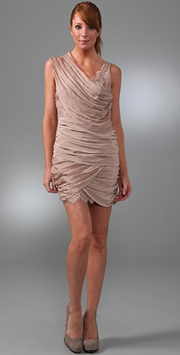 Madison Marcus Lace Asymmetrical Dress