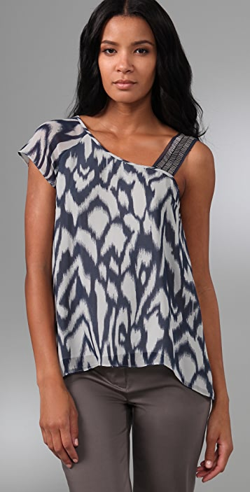 Madison Marcus Ikat Print Top
