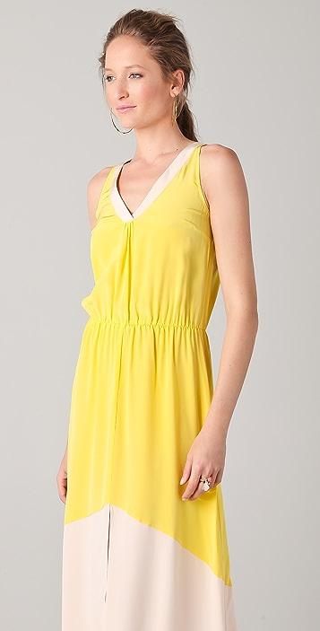 Madison Marcus Colorblock Long Dress