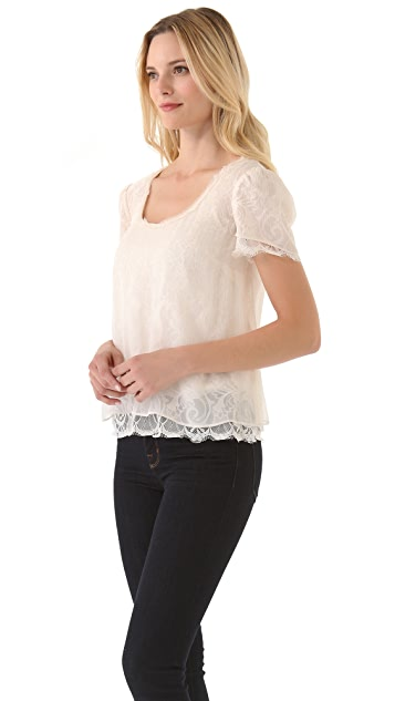 Madison Marcus Fizz Lace Top