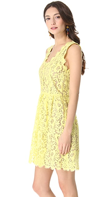 Madison Marcus Double V Lace Dress
