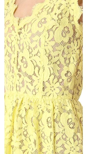 Madison Marcus Double V Lace Dress