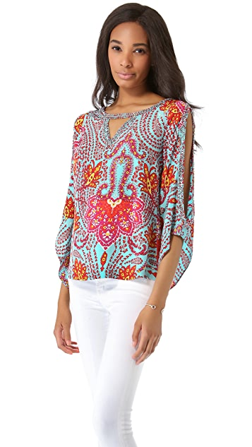Madison Marcus Pop Embroidered Top