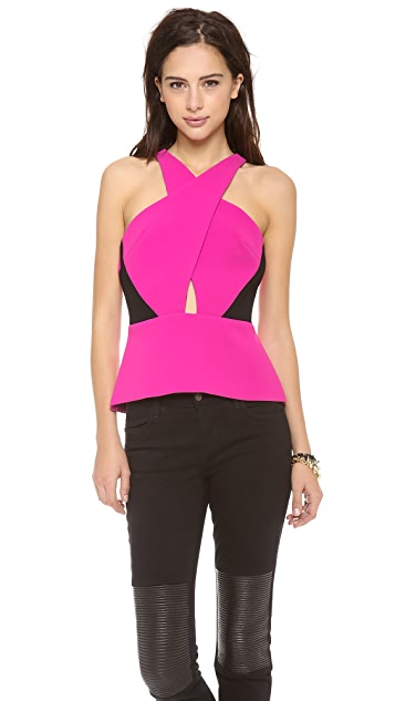 Madison Marcus Chroma Colorblock Peplum Top