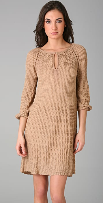 M Missoni Long Sleeve Keyhole Dress