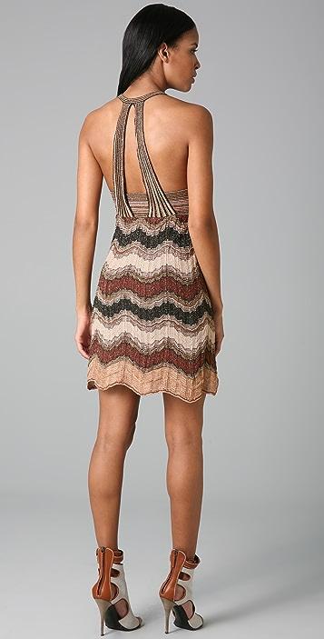 M Missoni Lurex Wave Halter Dress