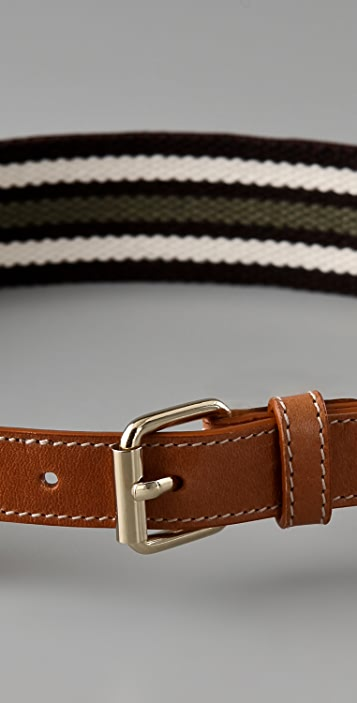 M Missoni Striped Canvas Belt