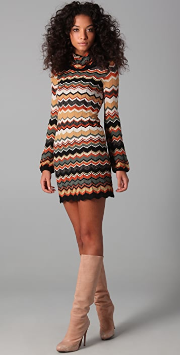 M Missoni Turtleneck Sweater Dress