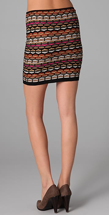 M Missoni Honeycomb Knit Tube Skirt