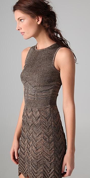 M Missoni Space Dye Chevron Knit Dress