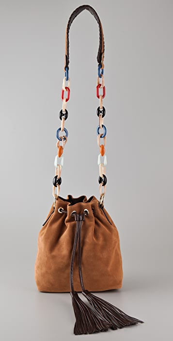 M Missoni Suede Cross Body Bag