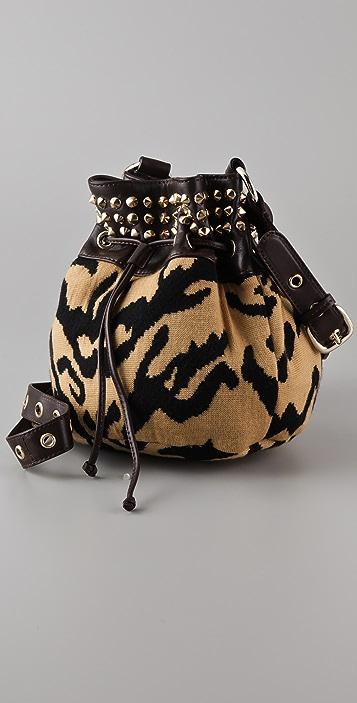 M Missoni Studded Tiger Cross Body Bag