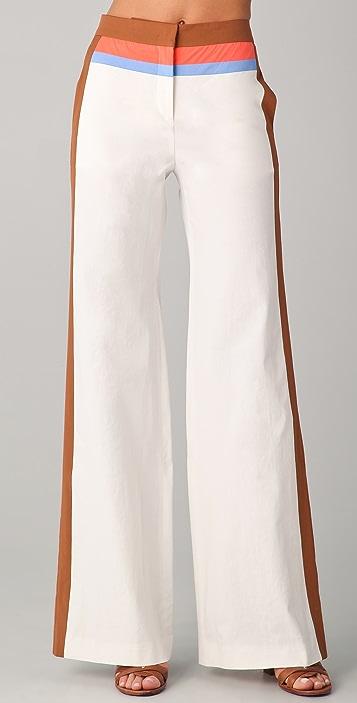 M Missoni Colorblock Wide Leg Pants