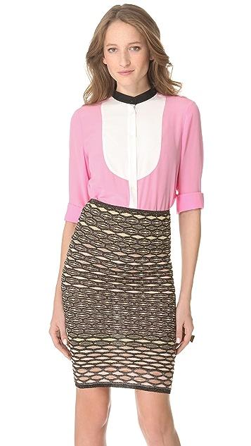 M Missoni Colorblock Tux Shirt