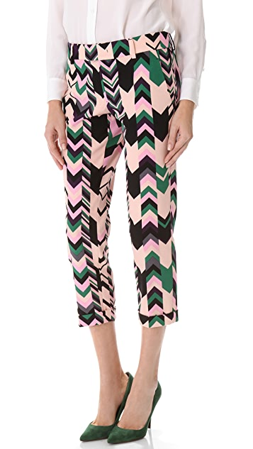 M Missoni Silk Printed Pants