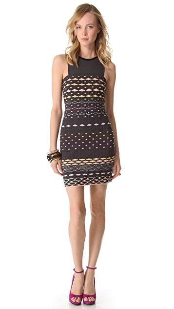 M Missoni Diamond Stripe Shift Dress