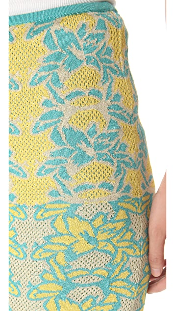M Missoni Tropical Intarsia Tube Skirt