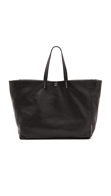 M Missoni Large Leather Tote