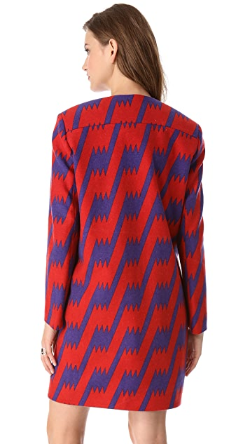 M Missoni Lightning Bolt Wool Coat