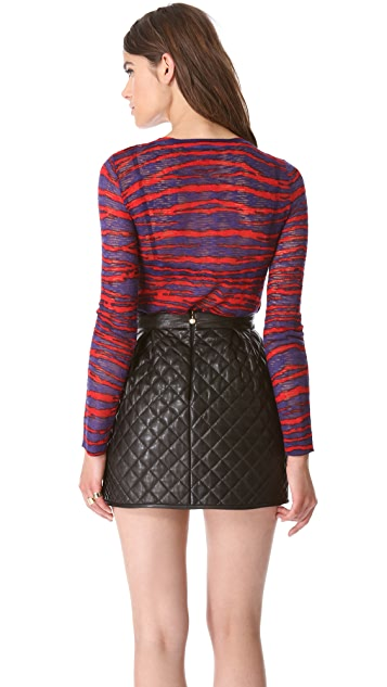 M Missoni Zebra Slubbed Sweater