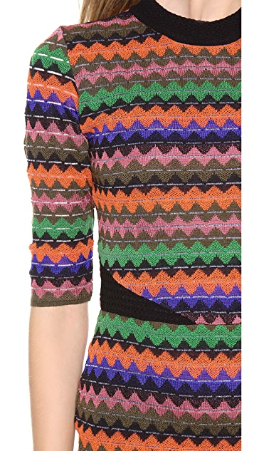 M Missoni Tubular Zig Zag Dress