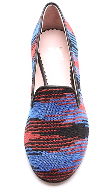 M Missoni Woven Smoking Slippers