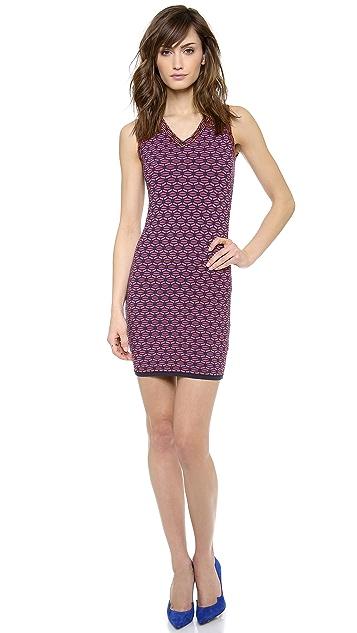 M Missoni Honeycomb V Neck Dress