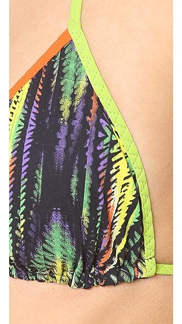 M Missoni Digital Diamond Print Triangle Bikini