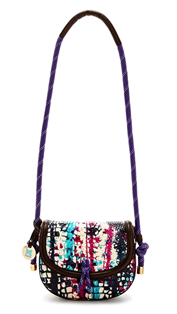 M Missoni Painted Leather Cross Body Bag