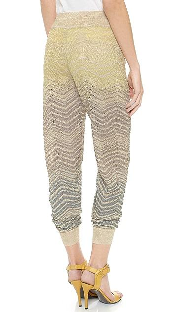 M Missoni Metallic Ripple Knit Pants