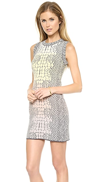 M Missoni Crocodile Jacquard Sleeveless Dress