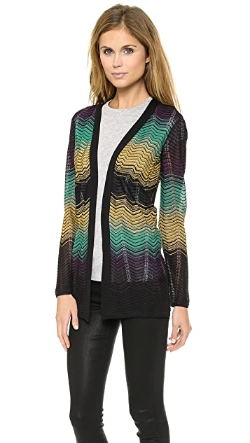 M Missoni Ripple Knit Cardigan