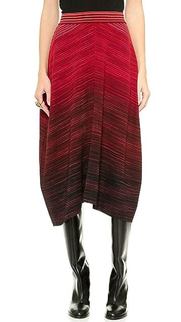M Missoni Colorblock Flat Space Dye Skirt