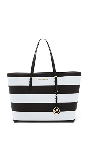 1929ec0935b0 MICHAEL Michael Kors Jet Set Travel Stripe Medium Tote | SHOPBOP