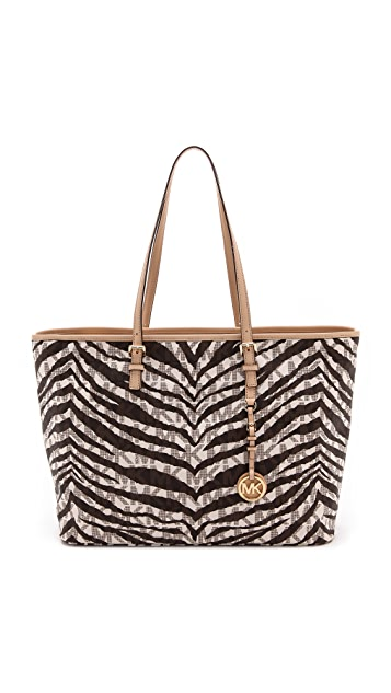 MICHAEL Michael Kors Jet Set Travel Tiger Stripe Medium Tote
