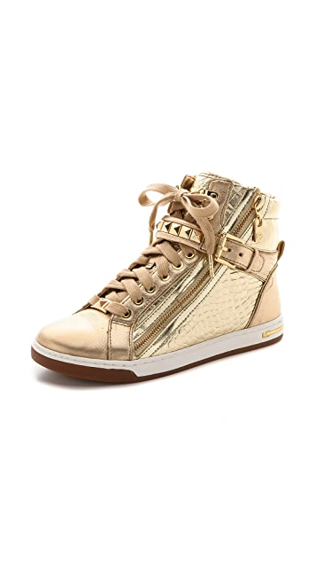 9ccba70f39247 MICHAEL Michael Kors Glam Studded High Top Sneakers