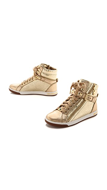 MICHAEL Michael Kors Glam Studded High Top Sneakers