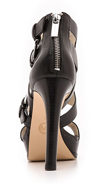 MICHAEL Michael Kors Lucinda Back Zip Sandals