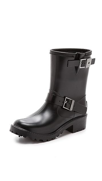 MICHAEL Michael Kors Devenport Lined Moto Rain Booties
