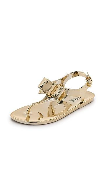 6688e060047 MICHAEL Michael Kors Kayden Metallic Jelly Sandals