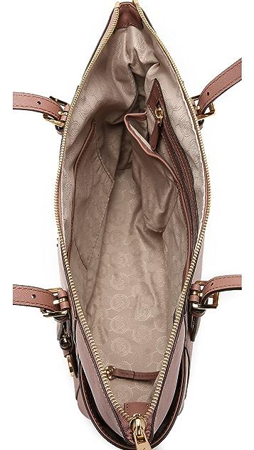 MICHAEL Michael Kors Объемная дорожная сумка Jet Set с молнией сверху