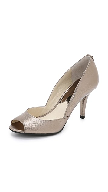 Natalie Open Toe d'Orsay Pumps