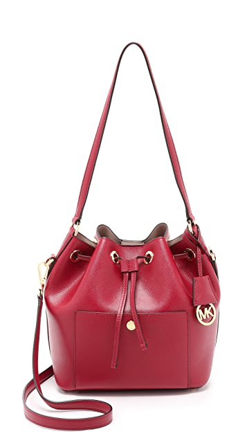 9ba4d3513df3 MICHAEL Michael Kors Greenwich Medium Bucket Bag