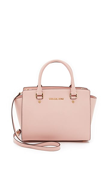 d1e4138a7bfb MICHAEL Michael Kors Selma Medium Satchel | SHOPBOP