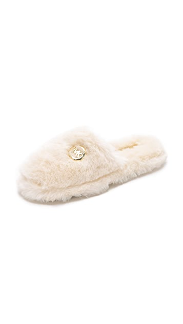 449659ef2c77 MICHAEL Michael Kors Jet Set Faux Fur Slippers