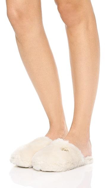 MICHAEL Michael Kors Jet Set Faux Fur Slippers