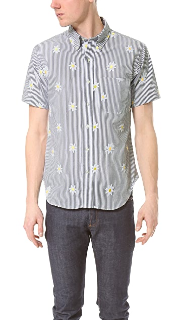 Mark McNairy New Amsterdam Floral Seersucker Shirt