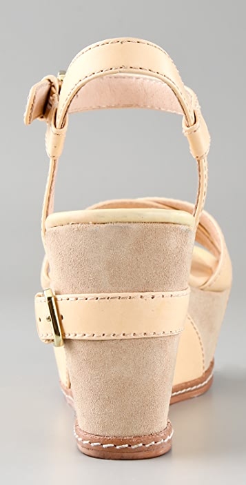 Modern Vintage Shoes Arnie X Band Platform Sandals